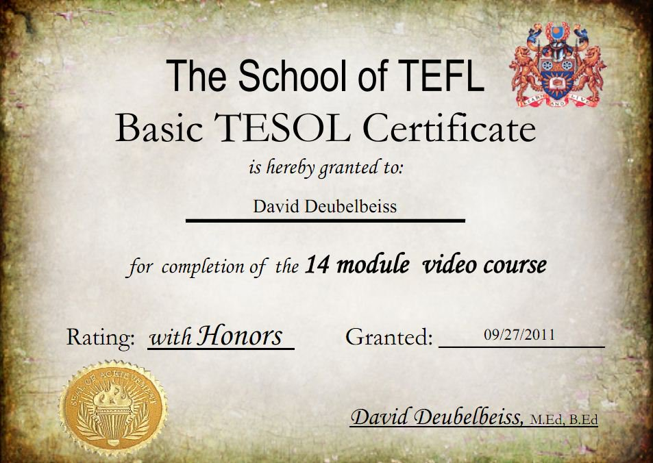 Fake TEFL Certificates