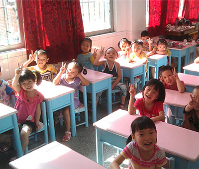 Teaching Children English in China class